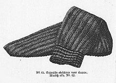 Beenwarmer, 1868. Original knitting pattern in Dutch #19th century