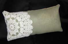 Doily Pillow - good idea for using vintage doilies that have a damaged or stained area.