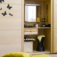 Built In Dressing Table Behind Sliding Doors Wardrobe Door Ideas Bedroom