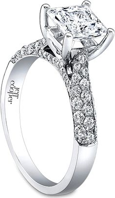 Jeff Cooper Triple Row Pave Diamond Engagement. Its okay to have expense taste ;) a girl can dream lol.