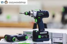 The PDC 18/4 and the CXS. Whether you need power or portability there's a Festool cordless drill for your needs. (photo via @cozywoodshop) #drill #powertools #woodworking #festoolusa by festool_usa