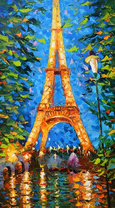 Christmas SALE  Gift  Eiffel tower at night  Dmitry by spirosart
