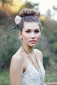 romantic hair...love this for bridesmaids
