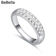 Fehér kristály gyűrű