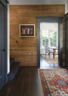 Painting wood paneling living room knotty pine 22 Trendy Ideas – Home Renovation Plank Walls, Wood Panel Walls, Cabin Homes, Log Homes, Home Renovation, Stained Shiplap, Stained Concrete, Knotty Pine Walls, Knotty Pine Kitchen