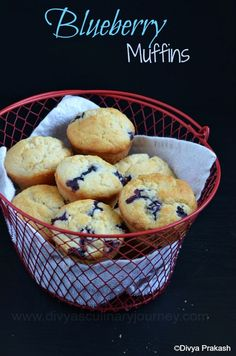 Soft and delicious blueberry muffins