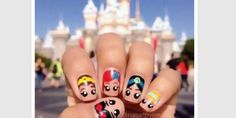 These Disney Nail Art Ideas Will Inspire Your Next Magical Manicure Loading. These Disney Nail Art Ideas Will Inspire Your Next Magical Manicure Nail Art Designs, Disney Nail Designs, Nails Design, Nail Designs For Kids, Princess Nail Designs, Cute Nail Art, Cute Nails, Nail Art Disney, Disney Manicure