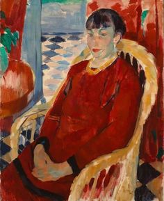 Rik Wouters, The Lady in Red on ArtStack #rik-wouters #art