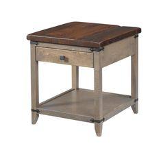 Reclaimed Wood Top Manhattan End Table