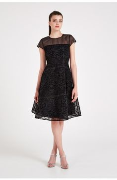 ed402cd1a5 Louche Luxe Jerrica Woodland Flocked Velvet Dress Black Velvet