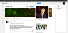 Checkout the New Google+ Profile Design: www.gplus.to/NeerajThakur .. #Google #Creative #SocialMedia