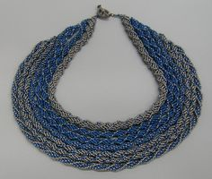 "Contemporary Jewelry - ""7-strand Helix necklace"" (Original Art from Sally Shore Bijoux)"