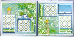 Tinkerbell Premade Scrapbook Pages by Syrena's Scraps, via Flickr
