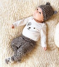 2017 New style baby clothing set long sleeve Cartoon fashion T-shirt+pants+hat 3pcs/suit outfits newborn baby boy girl clothes(China)