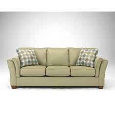"Ashley 91"" Citrus Upholstered Queen Sleeper Sofa - Living Room Furniture"