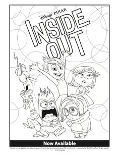 Disney Inside Out Coloring Pages MommyMafia