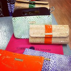 We <3 our Carrie Dunham hand bags! Two handle color choices, Sleeve options... the possibilities are endless.
