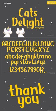 USE CODE PIN15 | 15% SITEWIDE Download Cats Delight Display Font today! We're excited to show you such a huge available Font - astic in our house! Commercial License Included.