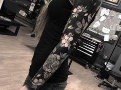 Dark floral sleeve