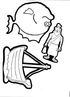 Jonah and the Whale Coloring Pages Printable | jonah | Pinterest ...