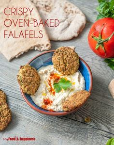 Oven-baked crispy falafel, healthy vegan/vegetarian patties for burgers