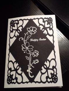 "Easter card made with Cricut ""Art Philosophy cartridge (CTMH)"