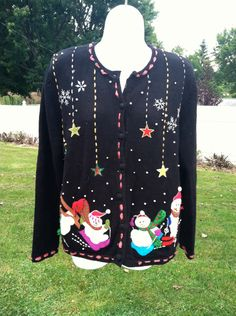 Vintage 1990s Ugly Christmas Sweater Tacky by VinTaGeOus102607, $26.00