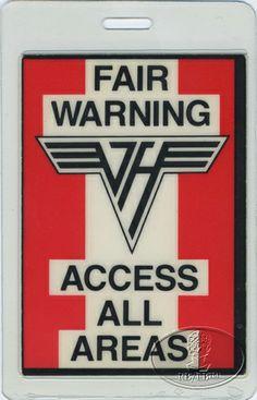 43527e039bf Van Halen Tour Pass https   www.facebook.com FromTheWaybackMachine Best