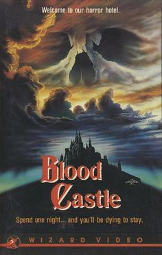 Blood Castle Horror Movie Posters, Horror Films, 80s Posters, Awesome Posters, Horror Books, Halloween Movie Night, Classic Horror Movies, Creatures Of The Night, Vintage Horror