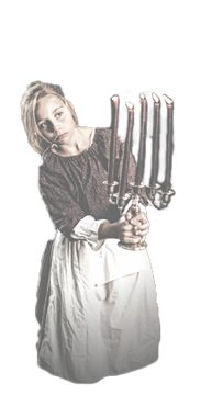 colonial girl with candlestick