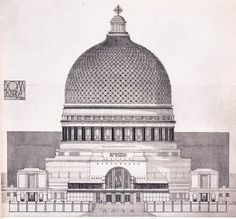 Project for a papal palace church in the holy land