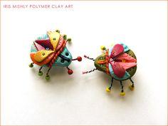 Polymer clay bugs
