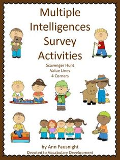 Multiple Intelligences Surveys Activities - check out the scavenger hunt available, too.