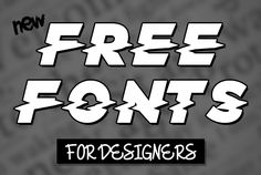 17 New Amazing Free Fonts for Designers #fontsfordesigners #freefonts #typeface #freebies #newfonts