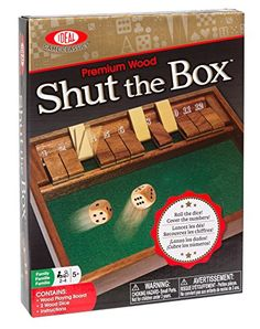 Shut The Box Tabletop Game - For number bonds to 12!