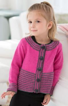 Girl's Knit Cardigan free pattern