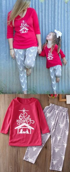 49771af3cd Letter Plaid Printed Family Christmas Pajama Set