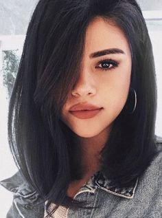 hair inspiration short 53 Classy Short Haircuts and Hairstyles for Thick Hair - Page 4 of 5 - Style O Check Short Dark Hair, Short Hairstyles For Thick Hair, Long Bob Haircuts, Haircut For Thick Hair, Medium Short Haircuts, Short Hair With Bangs For Round Faces, Long Brunette Hairstyles, Haircut For Medium Length Hair, Kids Bob Haircut