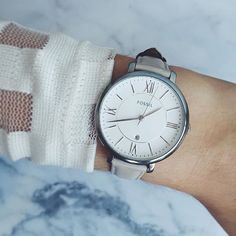 Today's #FossilDaily pic by @cydniefinnie proves that our Jacqueline watch can make any outfit tick. Tag your pics with #FossilStyle and you could be next.