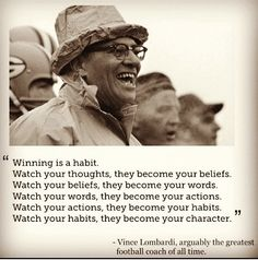 Bill Giyaman posted Vince Lombardi Quote to their -inspiring quotes and sayings- postboard via the Juxtapost bookmarklet. Great Quotes, Quotes To Live By, Me Quotes, Motivational Quotes, Inspirational Quotes, Qoutes, Motivational Pictures, Famous Quotes, Positive Quotes