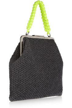 Marni | Chunky-knit wool and cashmere-blend bag | NET-A-PORTER.COM