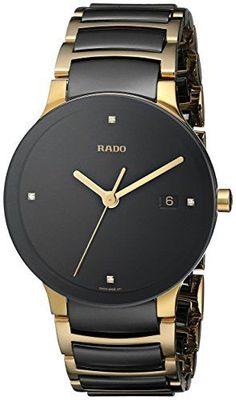 0de14f267ab5 Amazon.com  Rado Men s R30929712 Centrix Jubile Gold Plated Stainless Steel  Bracelet Watch  Centrix Jubilé  Watches