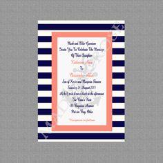 Printable Nautical Wedding Invitations Wedding by MadeByCRose, $12.00
