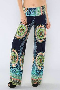 Ladies wide leg navy pants.  on Etsy, $30.00