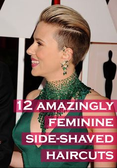 Celebrity Trend - 12 amazingly feminine side-shaved haircuts