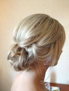Soft Bridal Updo by UpStyle Junkie Soft Updo, Bridal Updo, Updos, Bridesmaid, Romantic, Long Hair Styles, Beauty, Up Dos, Maid Of Honour