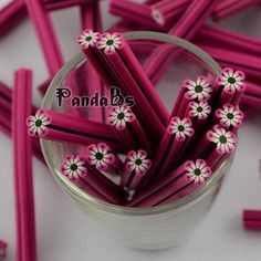 Cheap Stickers & Decals, Buy Directly from China Suppliers:       Polymer Clay Nail Art Decoration, Fashion Nail Care, No Hole Tubes, Flower, MediumVioletRed    Size: about 3~6mm