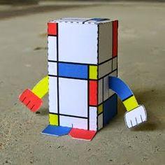Second in our artist-inspired series - Piet Mondrian. Piet Mondrian was a Dutch painter. He was an important contributor to the . Piet Mondrian, Mondrian Art Projects, Arte Elemental, Art Criticism, Art Lessons Elementary, Paper Toys, Art Plastique, Art Activities, Teaching Art