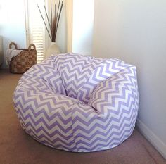 Zig Zag by IslandHomeEmporium Dream Bedroom, Girls Bedroom, Bedroom Ideas, Bean Bag For Adults, Toddler Bean Bag Chair, Small Folding Chair, Bean Bag Furniture, Bean Chair, Purple Bedrooms