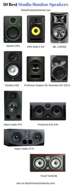 The 10 best studio monitor speakers for your home studio and music production. Check them out! #musicproduction #studiomonitor #speakers #homestudio